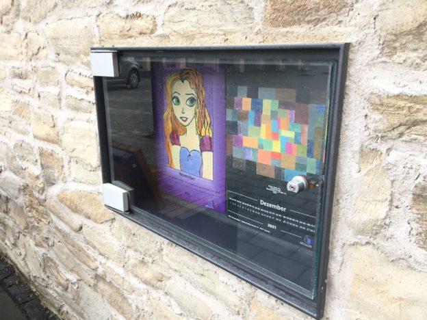 Mini-Ausstellung am Bischofsheimer Dorfbrunnen