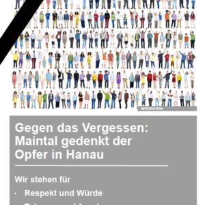 Gedenken an das Attentat von Hanau